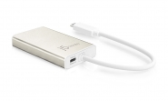JCA374 USB Type-C Multi-Adapter HDMI/Ethernet/USB 3.1 HUB/PD 2.0